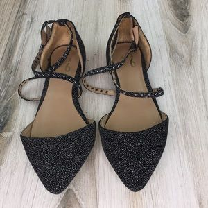 """Mix No.6  """"theracien"""" Sparkly Pointy Flats"""